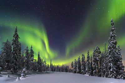 ver auroras en laponia saariselka