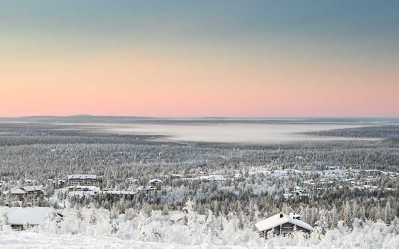 disfrutar del paisaje artico de laponia