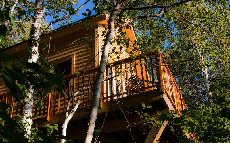 dormir cabana en arbol