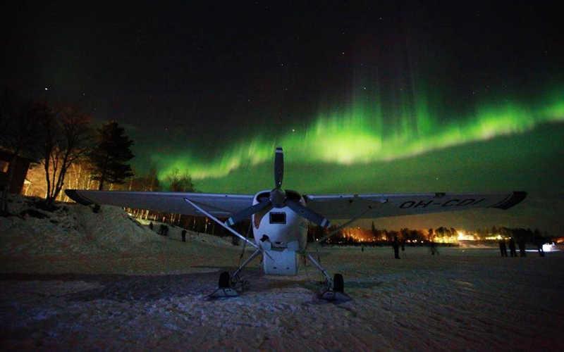 vuelo auroras laponia