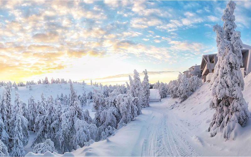 The Ruka ski resort in Lapland