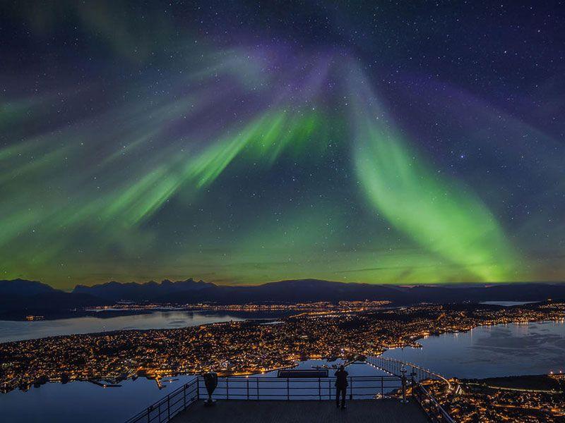 Las auroras boreales en Noruega