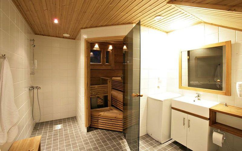 cabana-de-lujo-laponia-baño-sauna