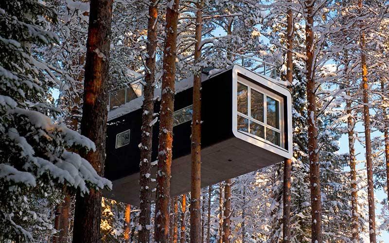 cabana-en-los-arboles-laponia-sueca-viajes