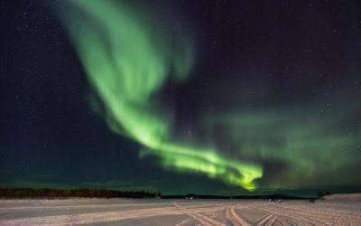 Ver las auroras boreales en Laponia